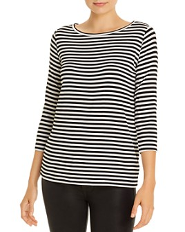 Majestic Filatures - Striped Boat Neck Tee