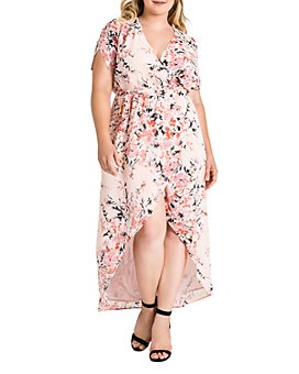 standards & practices - Robin Blossom Floral Maxi Wrap Dress