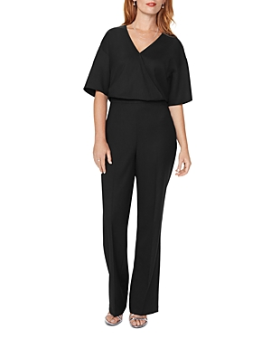 Nydj Wrap-Front Jumpsuit In Black
