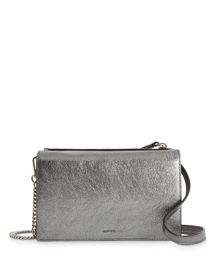 ALLSAINTS - Miki Metallic Leather Chain Wallet