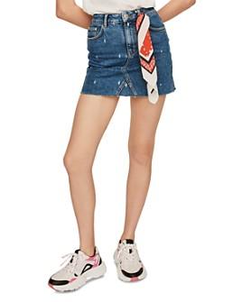 Maje - Jianki Embroidered Denim Mini Skirt