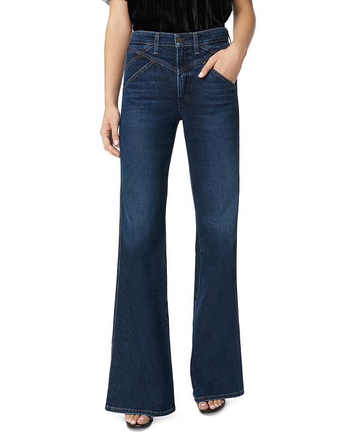 Joe's Jeans - The Molly High-Rise Flare Jeans in Longhorn