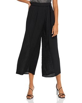 AQUA - Tie-Waist Pleated Pants - 100% Exclusive