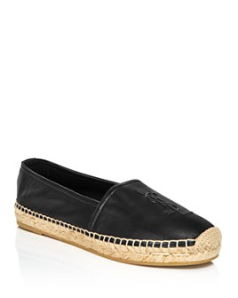 Saint Laurent - Women's Leather Espadrille Flats