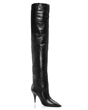 Saint Laurent Boots WOMEN'S KIKI 85 HIGH-HEEL OVER-THE-KNEE BOOTS