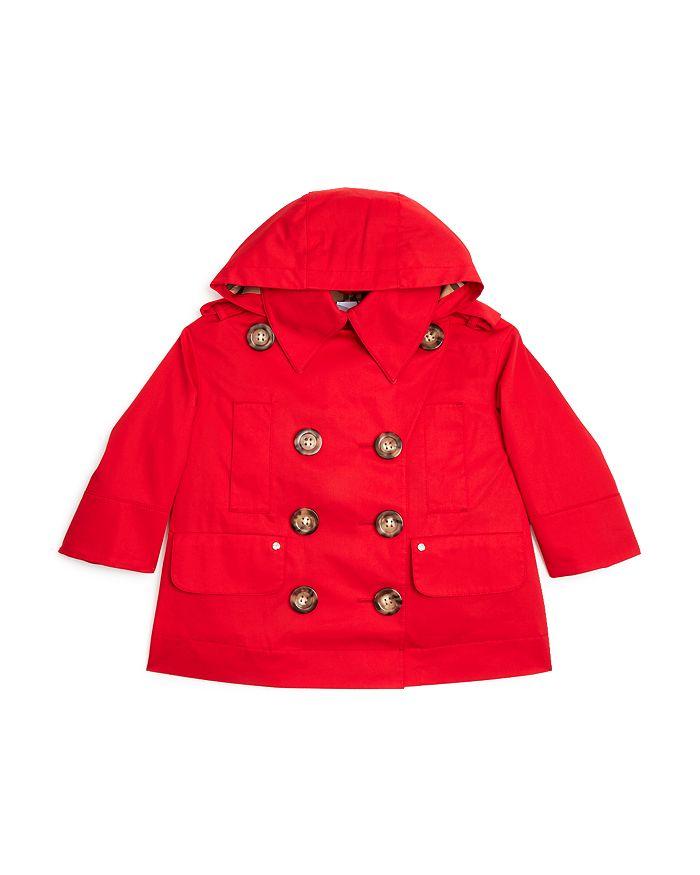 Burberry - Girls' Merel Hooded Trench Coat - Little Kid, Big Kid