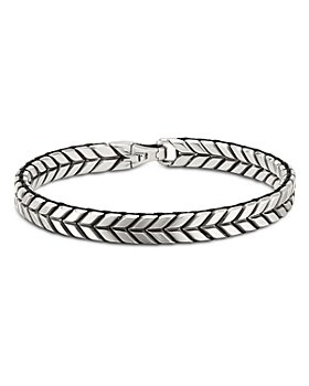 David Yurman - Sterling Silver Chevron Woven Bracelet