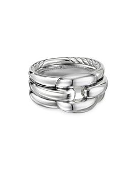 David Yurman - Sterling Silver Thoroughbred Cushion Link Ring