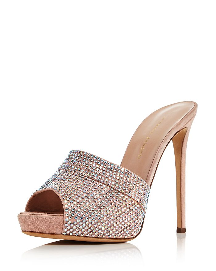 Giuseppe Zanotti - Women's Crystal-Embellished High-Heel Mules