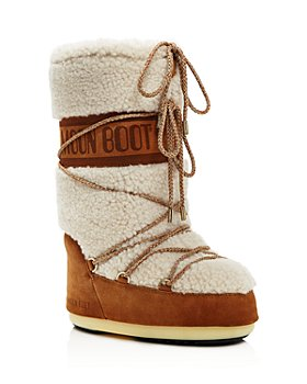 Moon Boot - Women's Shearling Hidden Platform Boots