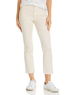 Mother The Dazzler Ankle Straight-Leg Jeans in Ivory-Women