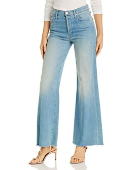 MOTHER - The Tomcat Roller Fray Wide-Leg Jeans in Power Trip