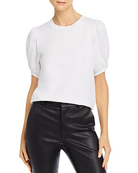 FRENCH CONNECTION - Puff Sleeve Jersey Top