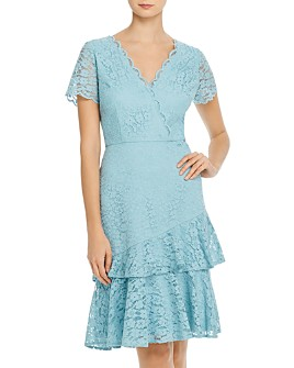 Adrianna Papell - Felicity Flounced Lace Dress - 100% Exclusive