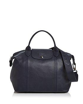 Longchamp - Le Pliage Medium Leather Shoulder Bag