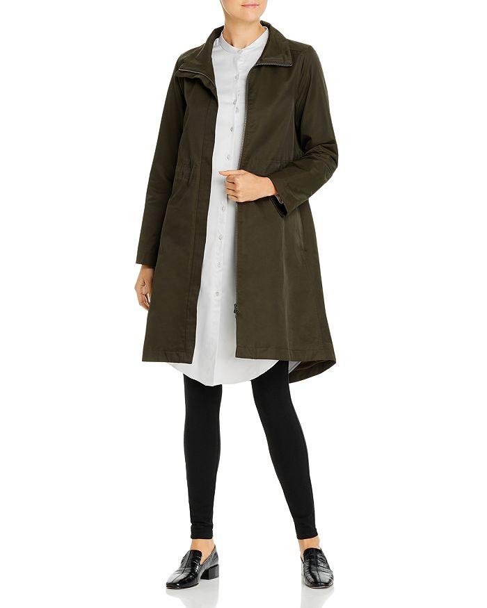 Eileen Fisher - High/Low Zip-Front Coat