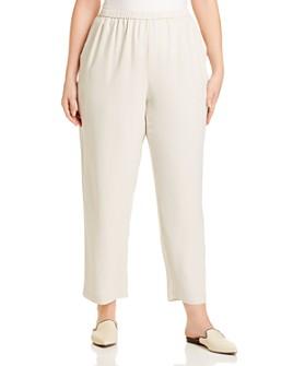 Eileen Fisher Plus - Silk Straight-Leg Pants