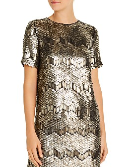 Elie Tahari - Java Deco Sequined Top