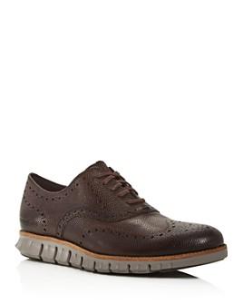 Cole Haan - Men's ZeroGrand Leather Wingtip Oxfords