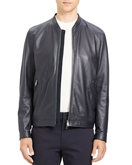 Theory - Morrison Benji Slim Fit Leather Jacket