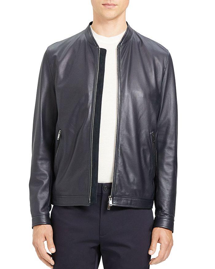 Theory - Morrison Benji Slim Fit Leather Jacket