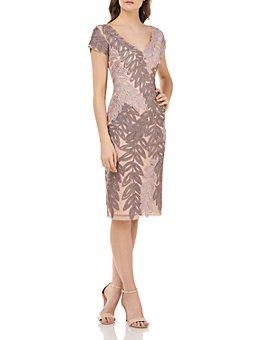 JS Collections - Soutache Leaf Sheath Dress