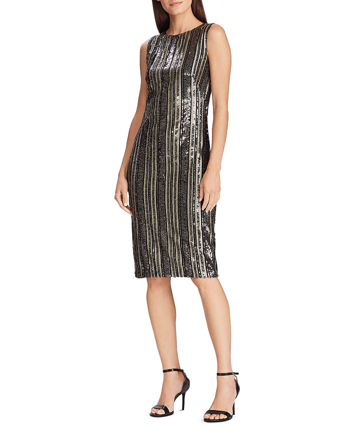 Ralph Lauren - Striped Sequin Dress