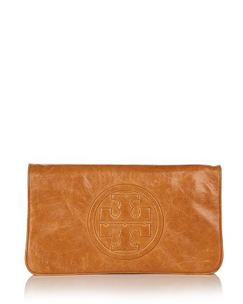 Tory Burch - Reva Bombe Leather Clutch