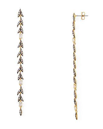 Nadri - Liv Leaf Linear Earrings