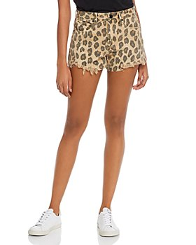 BLANKNYC - Leopard Print Denim Shorts in Stubborn