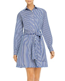 Derek Lam 10 Crosby - Iona Striped Shirt Dress