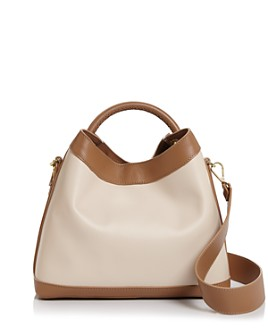 Elleme - Raisin Leather Satchel