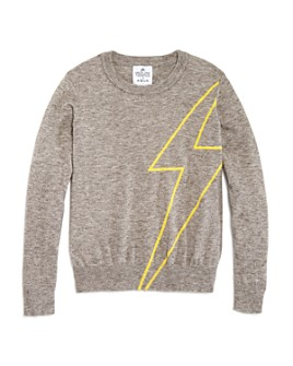 AQUA - Girls' Lightening Bolt Sweater, Big Kid - 100% Exclusive
