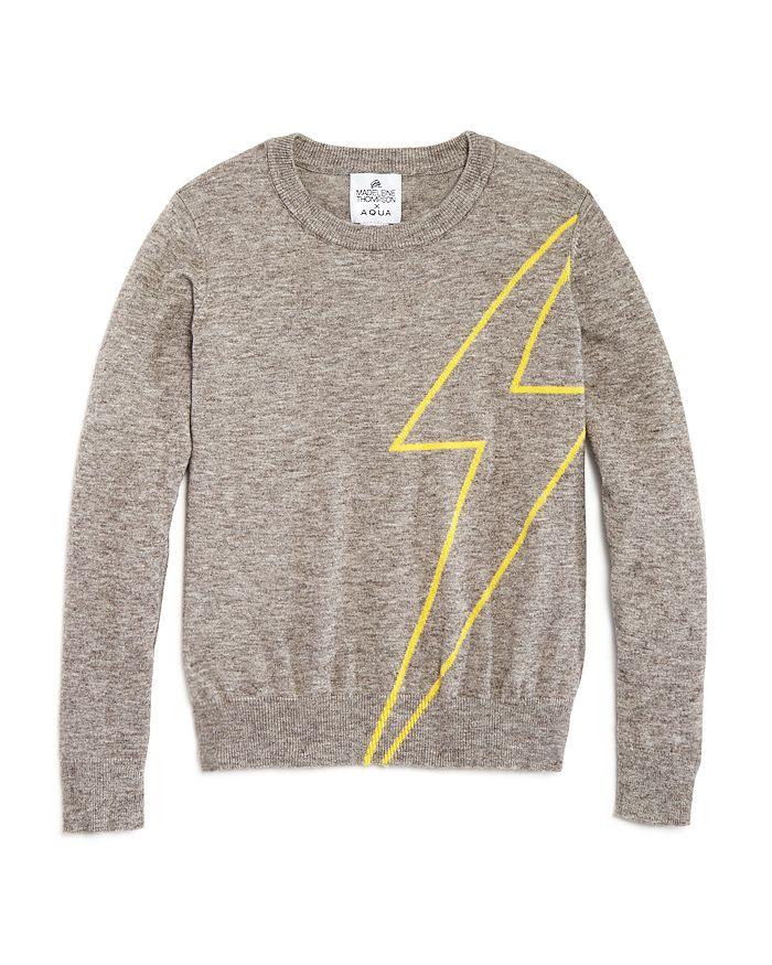 AQUA - Girls' Lightening Bolt Sweater, Big Kid - 100% Exclusive