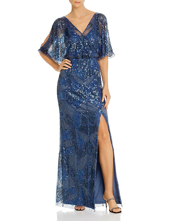 Aidan Mattox - Embellished Blouson Gown - 100% Exclusive