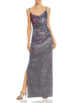 Laundry by Shelli Segal - Iridescent Draped Gown - 100% Exclusive