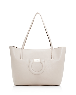 Salvatore Ferragamo Gancini Medium Leather City Tote