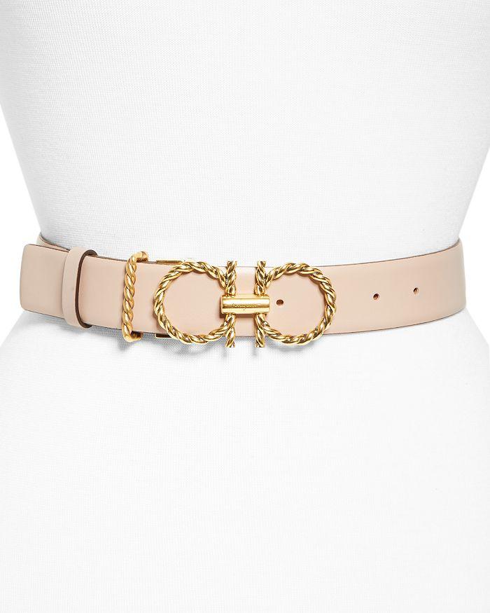 Salvatore Ferragamo - Women's Double-Gancini Leather Belt