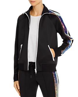 PAM & GELA - Sequin-Stripe Track Jacket