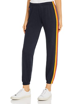 Aviator Nation - Rainbow-Stripe Sweatpants