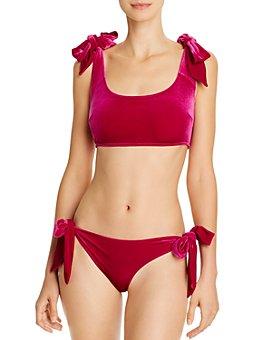 Jonathan Simkhai - Velvet Bikini Top & Velvet Bikini Bottom