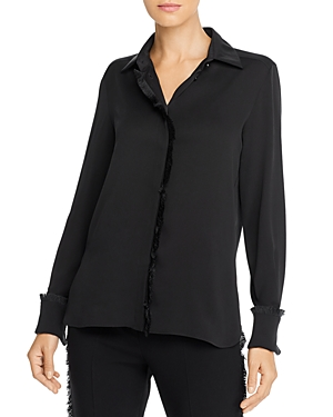 Max Mara Mogador Fringed Silk Blouse-Women