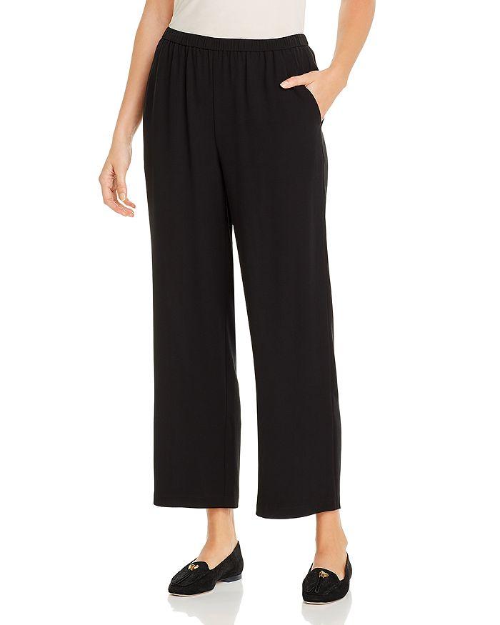 Eileen Fisher Petites - Silk Straight-Leg Pants