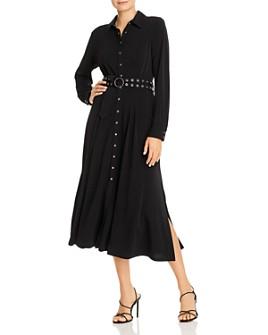 T Tahari - Belted Midi Shirt Dress