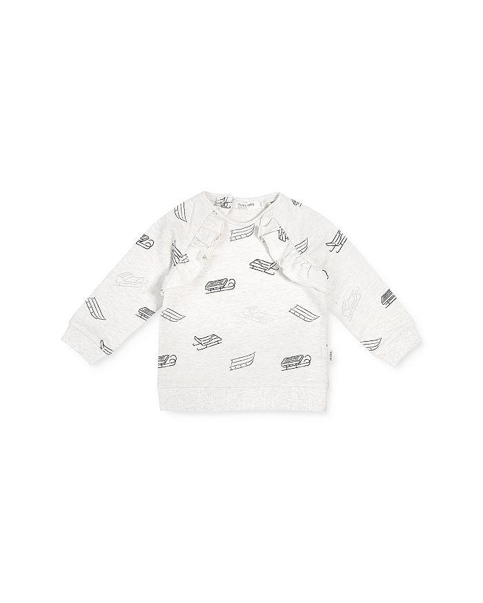 Miles Baby - Baby Girls' Sled Print Sweatshirt - Baby