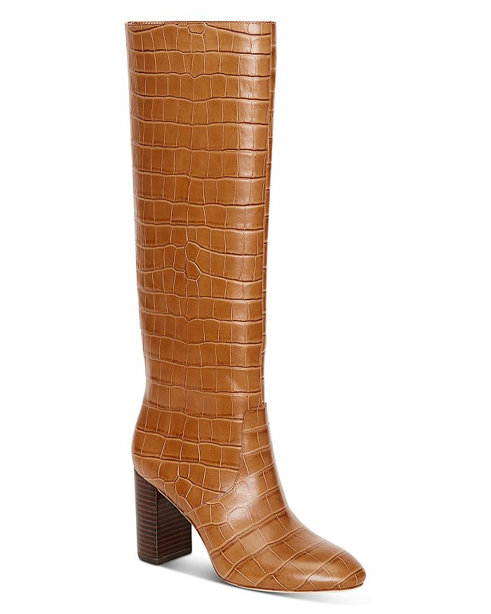 Loeffler Randall - Women's Goldy Croc-Embossed Tall Boots