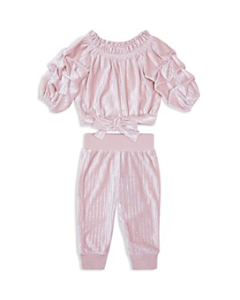 Habitual Kids - Girls' Skye Velour Striped Top & Pants Set - Little Kid