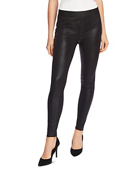 VINCE CAMUTO - Snake-Embossed Leggings