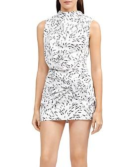 Acler - Jasper Twist-Front Printed Mini Dress