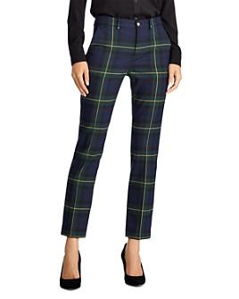 Ralph Lauren - Plaid Straight-Leg Ankle Pants